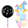 Gender reveal with pony balloon bouquet set