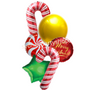 Candy and Christmas lights balloon bouquet