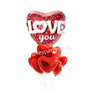 Love You Holographic foil balloon bouquet