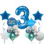 Happy birthday shades of blue balloon set