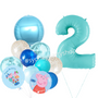 Peppa pig balloon bouquet with number bundle