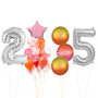 Orange and Pink balloons package