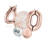 Rose gold and nude balloon bouquet with numbers