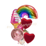 Rainbow and Ice cream Personalized Balloon bouquet