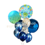 Printed Baby boy balloon bouquet