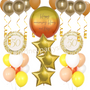 Personalized sunshine anniversary balloons set