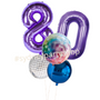 Disco styled balloon bouquet with numbers