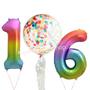 Rainbow Mega foil balloons sets