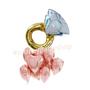 Foil Hearts & Diamond balloon bouquet