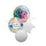 Rainbow foil balloon bouquet