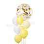 Bright jumbo balloon bouquet
