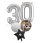 Black Marble balloon bouquet with numbers