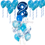 All blue balloons package