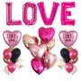 LOVE jumbo party balloon set