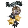 Hollywood-themed birthday balloon bouquet