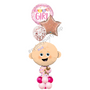 Welcome Baby girl marquee balloon