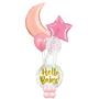 Hello baby sun & star marquee balloon