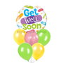 Be well colourful latex balloon bouquet