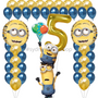 Minions birthday balloon set