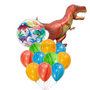 Dino supershape bubble balloon bouquet