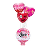 Love heart marquee balloon