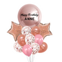 Personalized sparkling pink balloon bouquet