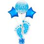 Baby boy foot mark marquee balloon