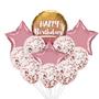 Classy confetti birthday balloon bouquet