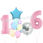 Personalized pastel balloons set