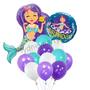 Little Mermaid birthday balloon bouquet
