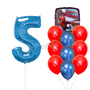 Spiderman birthday balloon bouquet with number