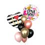 Love you bubble balloon bouquet