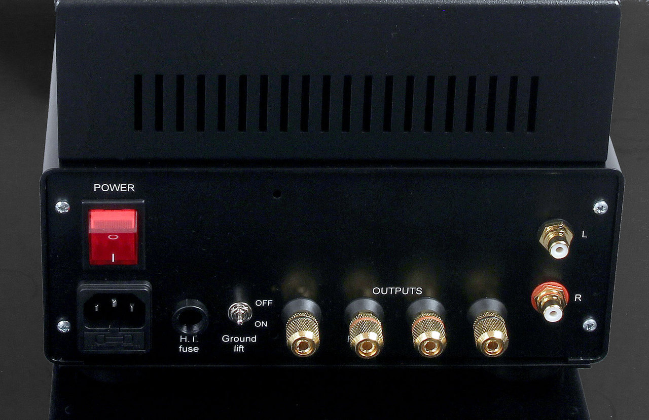 Rear Panel. Audion Sterling Stereo EL34 PCB Stereo Amplifier. Now at True Audiophile.