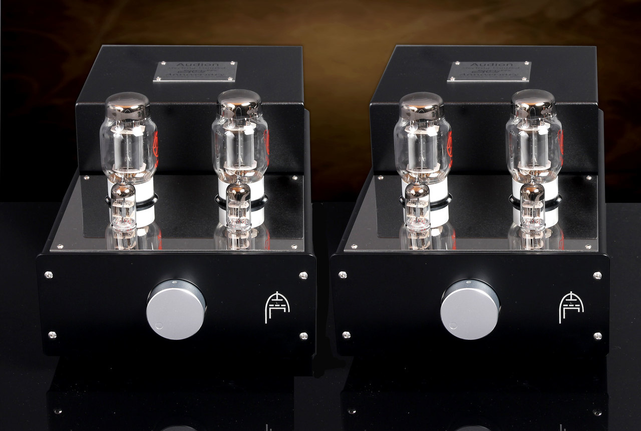 Audion Sterling  KT88  Anniversary Push Pull Hard Wired Mono Block Amplifiers.