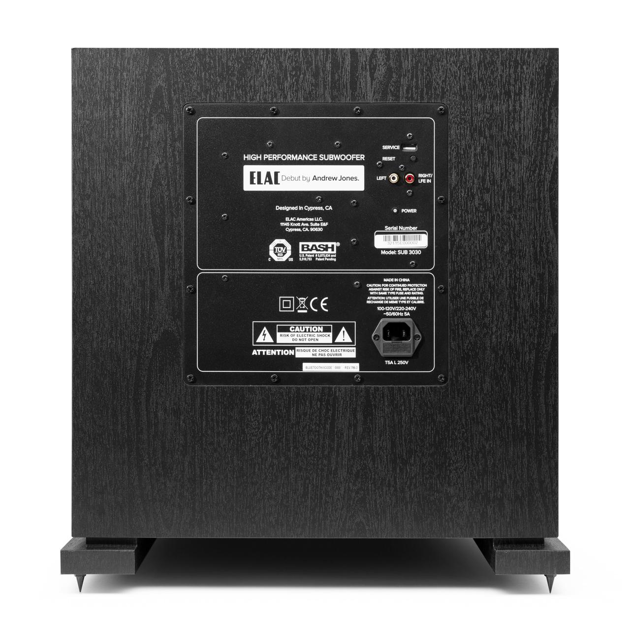 "ELAC 1000 Watt, 12"" power subwoofer. True Audiophile Store."