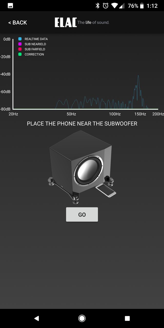 """ELAC 3010 10"""" NEW Powered Subwoofer phone software"""