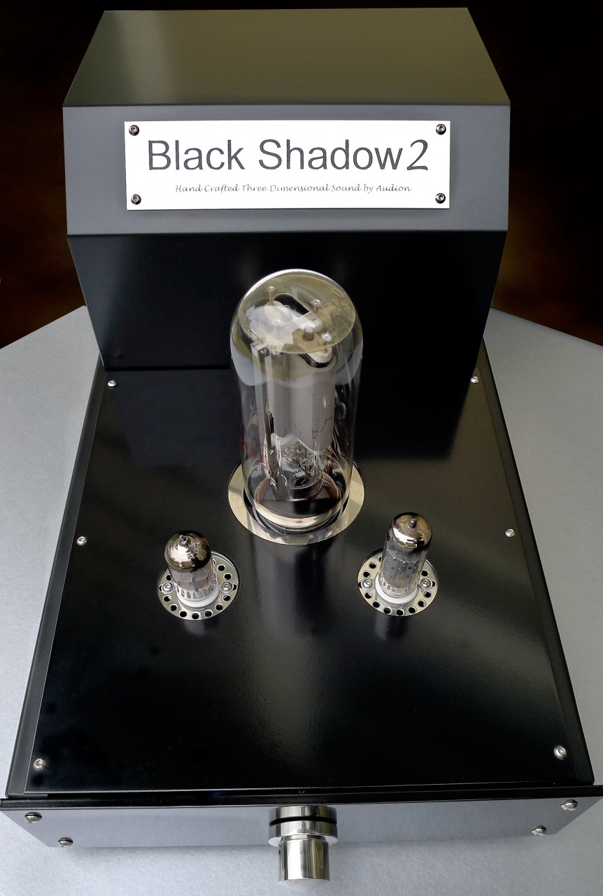 Audion Black Shadow 2 Mkll 845 Hard Wired Mono Block  Now at True Audiophile. Exclusive U.S. Importer for Audion tube equipment.