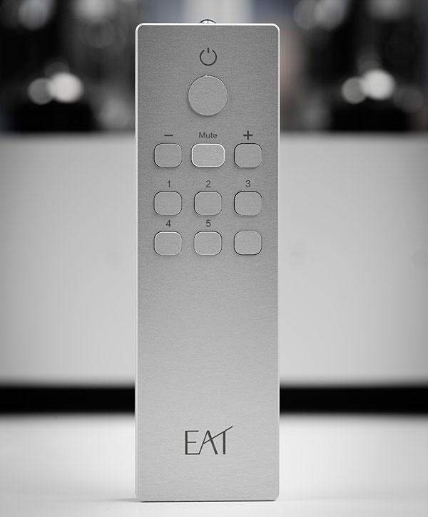 E.A.T. E-Glo I integrated amplifier, Remote. At True Audiophile Store.