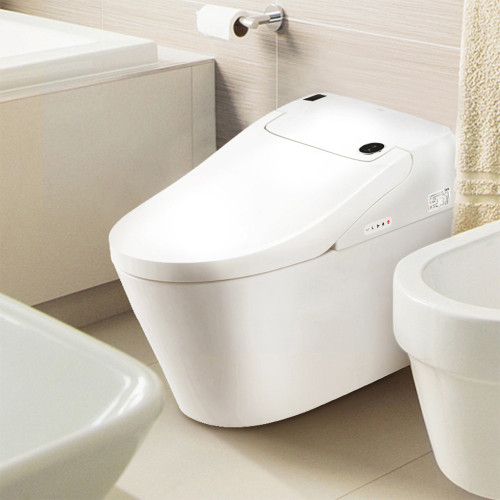 Euroto One Piece Dual Flush Toilet With Integrated Bidet Integrated