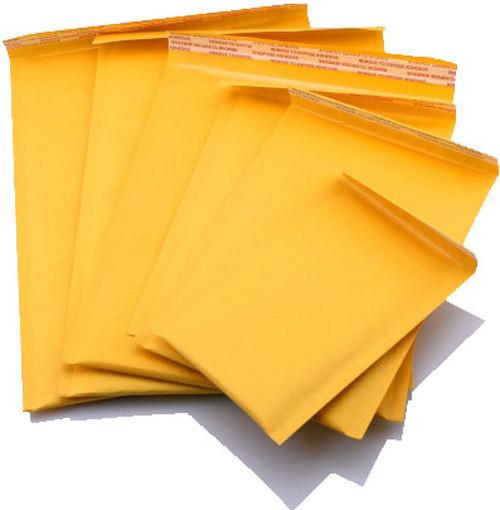 100 #1 7.25x12 KRAFT BUBBLE MAILERS PADDED ENVELOPES ENVELOPE  7 1/4 x 12