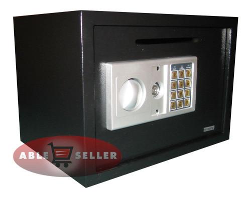 ELECTRONIC DIGITAL DEPOSITORY SAFE W/ CASH SLOT DROP OFF RETAIL SECURITY VAULT
