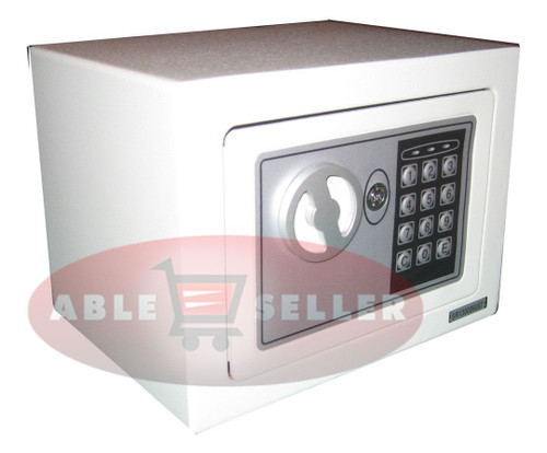 NEW DIGITAL ELECTRONIC SAFE SECURITY BOX WALL JEWELRY GUN CASH WHITE