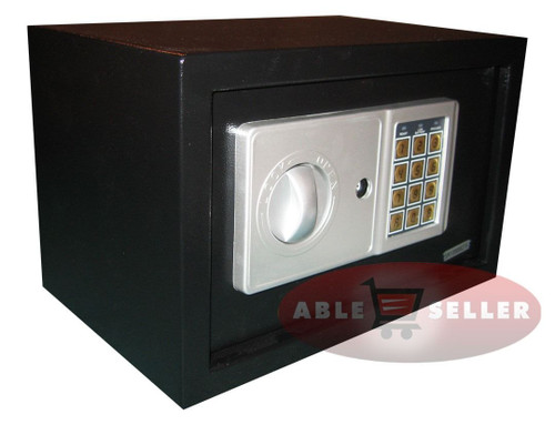 NEW DIGITAL ELECTRONIC SAFE SECURITY BOX WALL JEWELRY GUN CASH BLACK MEDIUM SIZE