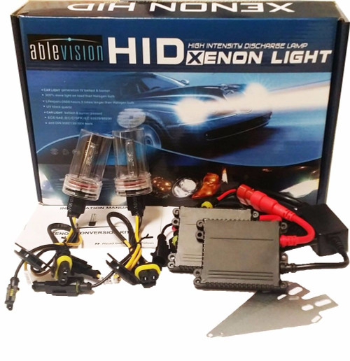 Ablevision 55w Hid Xenon Conversion Kit Slim Ballast Single Beam and Bi-xenon Bulb size: H1 H3 H4 H7 H8 H9 H10 H11 H13 Hb3 9004 9005 9006 9007, color options: 4300K, 6000K, 8000K, 10000K