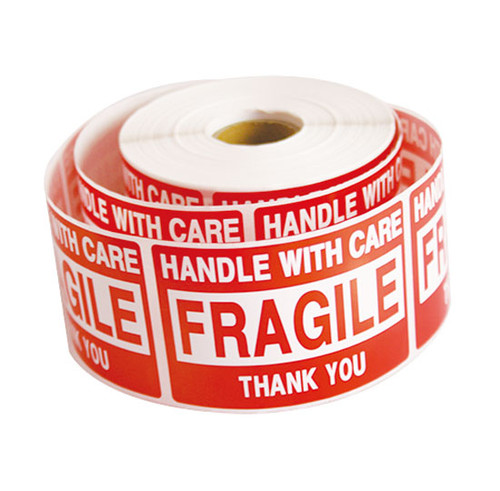 5 RollS 2500 2 x 3 FRAGILE HANDLE WITH CARE Stickers Labels