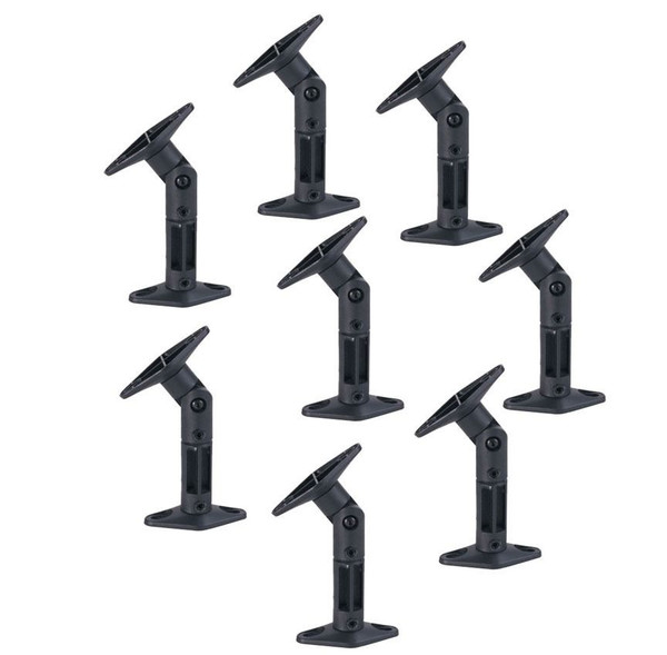 8 PACK UNIVERSAL CEILING WALL SATELLITE SPEAKER MOUNT BRACKETS HOME THEATER BOSE