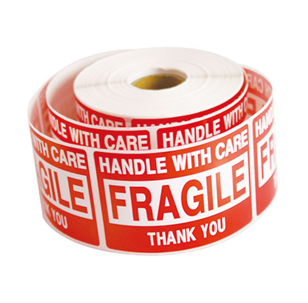 10 Rolls 5000 2 x 3 FRAGILE HANDLE WITH CARE Stickers Labels