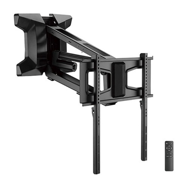"""MOTORIZED Fireplace Mantel TV Wall Mount for 37"""" to 70"""" Pull-Down Full-Motion"""