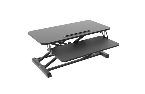 """Ergonomic Sit Stand Desk Height Adjustable Monitor Riser Tabletop Workstation 31.5"""" Wide"""