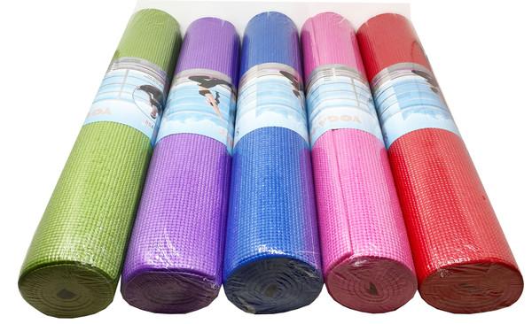 "Yoga Mat Exercise Fitness Pilates Camping Gym Pad Non-Slip 1/4"" HighDensity Foam"